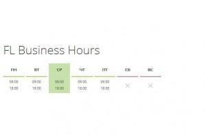 FL Business Hours - элемент графика работы Zoo Joomla
